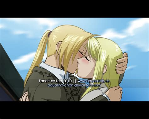Fullmetal Alchemist Brotherhood Edward And Winry Kiss | the missed kiss by lenbarboza