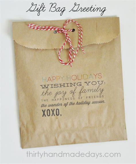christmas food gift bag craft pinterest
