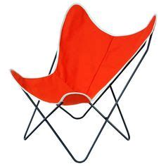 orange canvas butterfly chair charming perforated metal folding chair c1940s