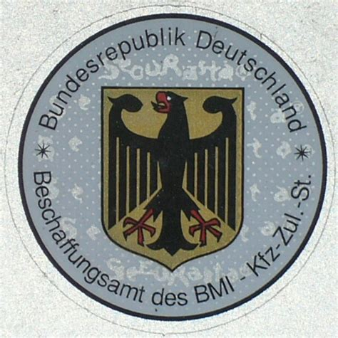 Kfz Zulassung Aufkleber by Kfz Kennzeichen Deutschland