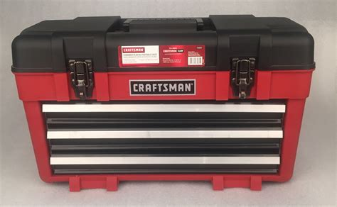 portable plastic tool box with drawers craftsman 23 quot wide portable tool chest with three drawers