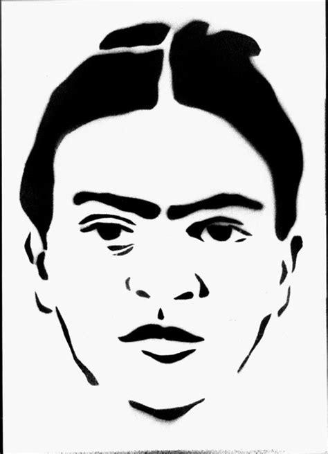 stencils of famous faces www famous faces stencil 2007 2010 frida kahlo pinterest