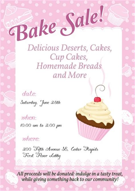 templates for bake sale flyers bake sale sign template brianna s bake goods pinterest