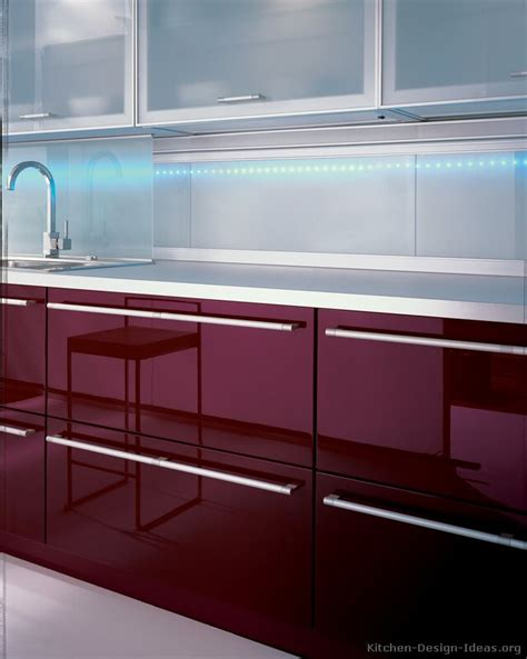 Aluminum Kitchen Design by Pictures Of Kitchens Modern Red Kitchen Cabinets