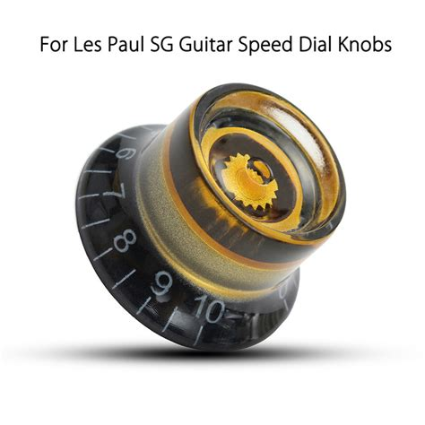 Les Paul Speed Knobs by 1pc Black Gold Plastic Electric Guitar Volume Voice Speed