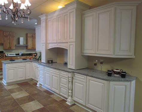 Kitchen Vanities by Charleston Cherry Saddle And Antique White Kitchen