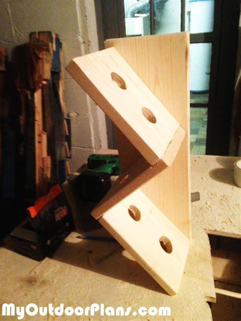 diy unique wine rack myoutdoorplans  woodworking