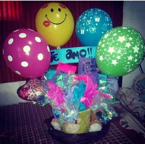 imagenes de regalo con globos deamor regalo para novio globos y tarjetas o pinterest