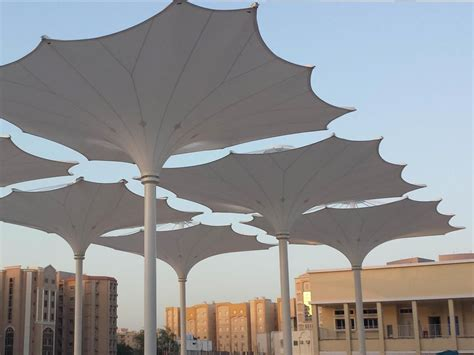 Zahra Umbrella custom fabric stadium fa 231 ade delivered for queensland state velodrome architecture and design