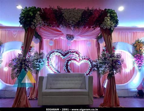 wedding decorations for reception wedding reception decoration at subalakshmi thirumana