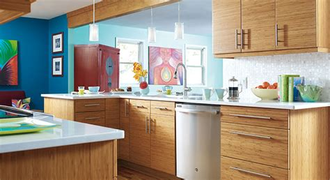 bamboo kitchen cabinets for modern kitchen remodel with bamboo cabinetry masterbrand