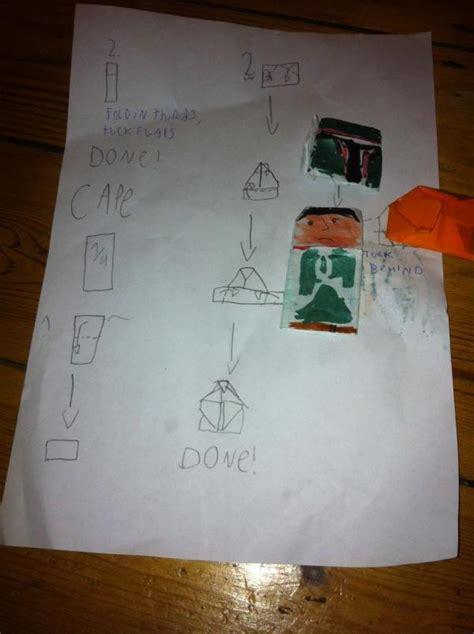 Origami Boba Fett - boba fett instrux origami yoda