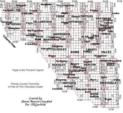 oklahoma township range map swimnova