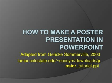 tutorial poster powerpoint ppt how to make a poster presentation in powerpoint