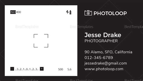 plastic card template word plastic photographer business card template in psd word