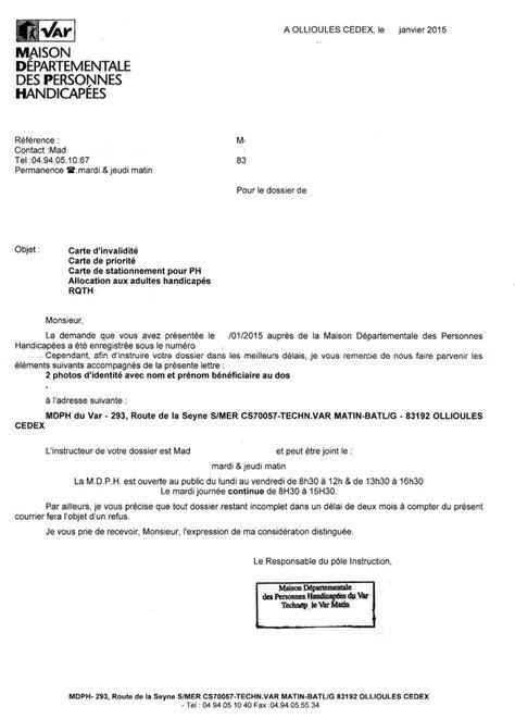 Exemple De Lettre A Qui De Droit Lettre Type Accus 233 Reception 2013 Refus Aah Mdph Cdaph Conseil G 233 N 233 Ral Du Var