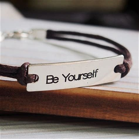 Patch Rubber Custom Ukuran Kecil engraved quote bracelet inspiration silver mens