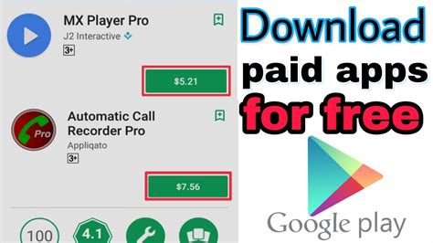 how to get android paid apps from google play store on how to download paid apps games for free from google play
