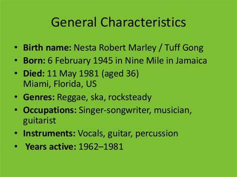 Bob Marley Biography Ppt | bob marley presentation