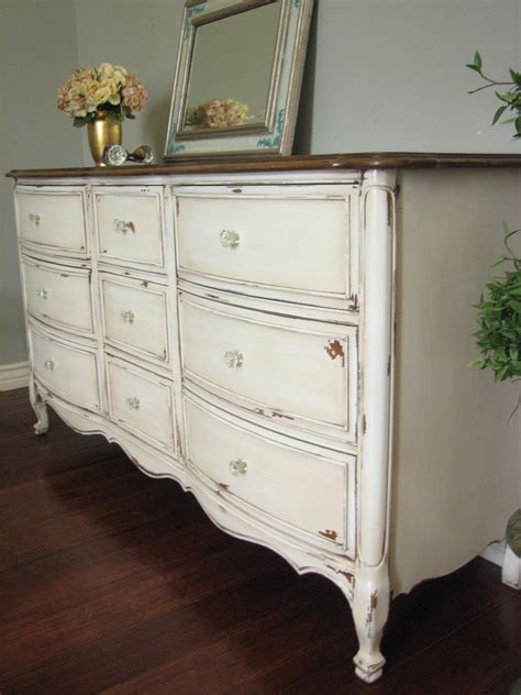 white dresser with stained wood top sold solid wood dresser in an antiqued creamy white