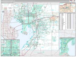 zip code map ta hillsborough county hillsborough county fl zip code wall map premium style by