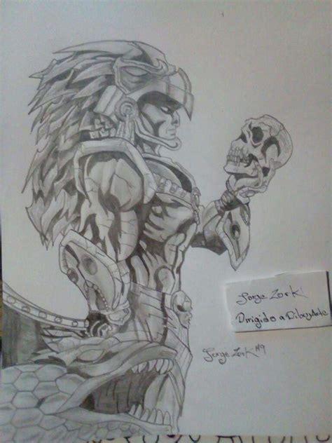 imagenes de aztecas a lapiz azteca tsemanal20 dibujarte amino