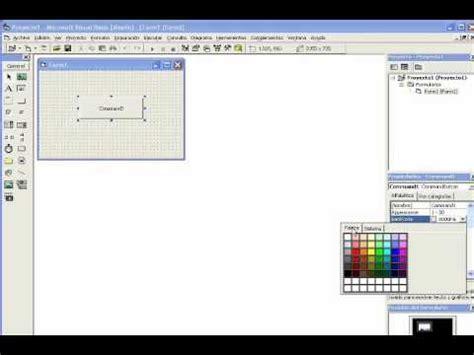 imagenes botones visual basic cambiar el color de un boton en vb6 youtube