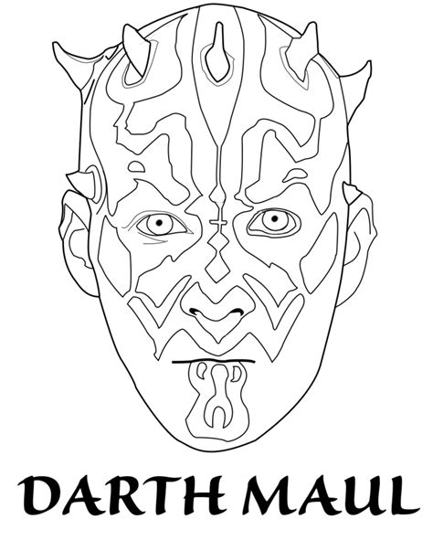 darth maul template darth maul coloring pages coloring home