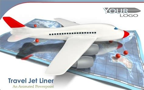 animated airplane templates  powerpoint