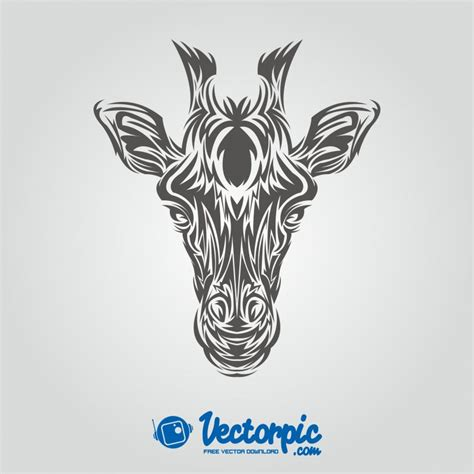 giraffe tribal tattoo giraffe tribal style free vector