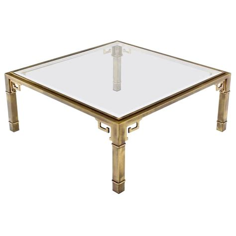 large square mastercraft key coffee table for sale