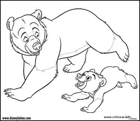 mama bear coloring pages pooh corre con su mama brother bear printable coloring