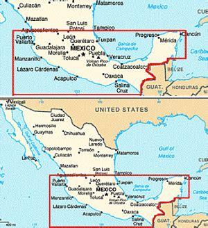 map southern mexico map of southern mexico mexico map