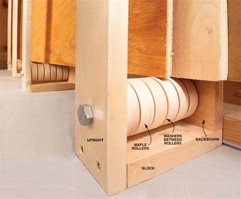 Family Handyman Cabinets by Rollers Ease Plywood Storage Popular Woodworking Magazine