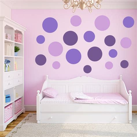 multi size purple polka dot wall decal pack more