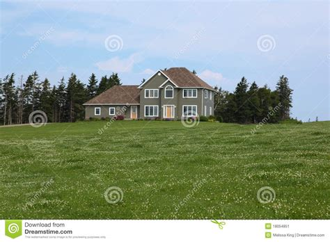 country side house modern house in countryside stock image image 18054851