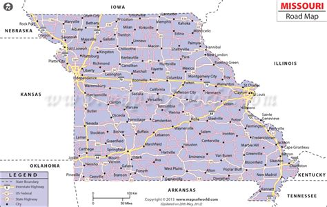 missouri map with cities and towns missouri road map http www mapsofworld