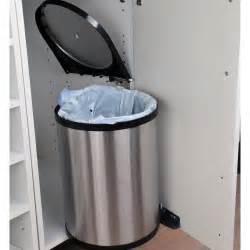 poubelle int 233 rieur de porte manuelle acier chrom 233