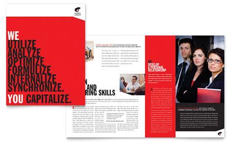 Business Executive Coach Brochure Template Design Coaching Flyers Templates