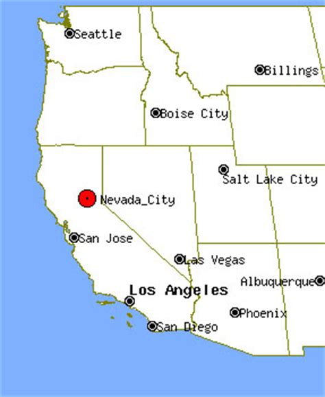california map nevada city pin city nevada is the seat of county photo taken 011903