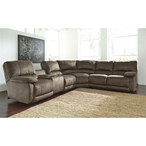 leather sectional ashley ashley seamus right corner faux leather console sectional
