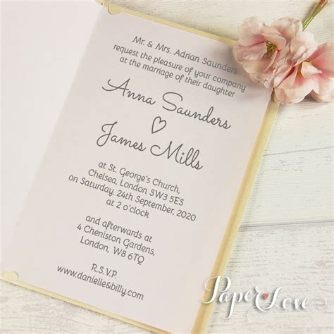 day wedding invites large intricate grooms names personalised laser cut wedding in paper cards