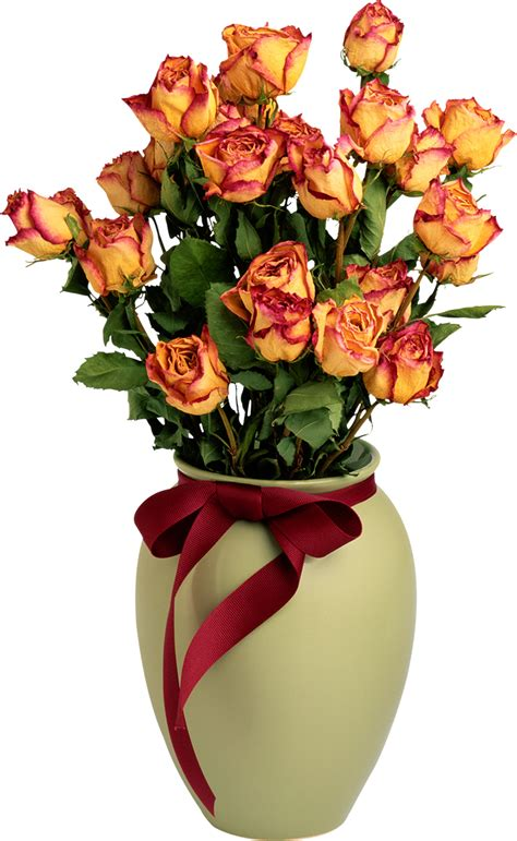 Flower Vase Png by Vase With Orange Roses Png Picture Gallery Yopriceville