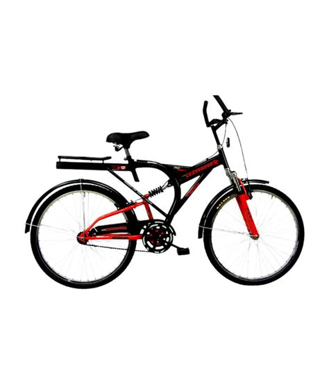 hero on a bicycle hero crossroad 26 bicycle black red buy online at best price on snapdeal