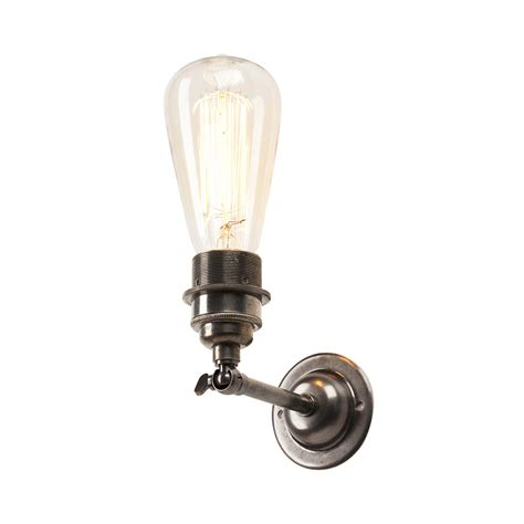 antique silver industrial style wall light with well glass shade buy old school electric industrial wall spot antique
