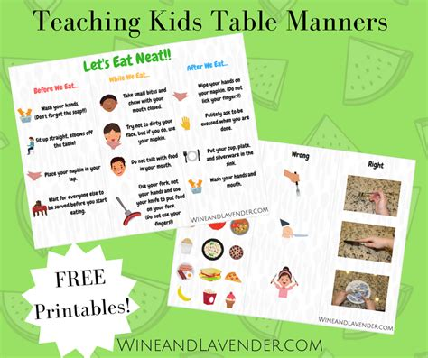 table manners for table manners activities for toddlers
