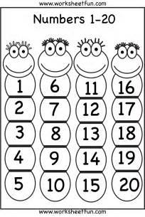 kindergarten number worksheets 1 20 bing images