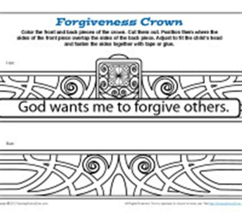 forgiveness bible crafts the story of the forgiving king crown bible craft for