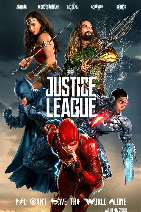 film justice league kapan tayang justice league poster brings new color new direction