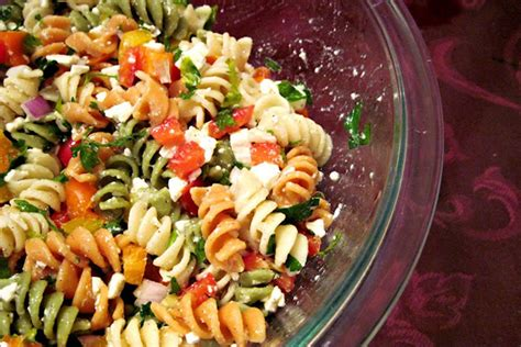 easy pasta salads easy pasta salad with feta cheese the cooking mom